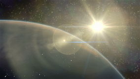 Earth sunrise. Cinematic and very realistic sunrise seen from space stock footage