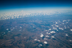 Earth surface viewed from airplane Royalty Free Stock Images