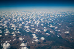 Earth surface viewed from airplane Royalty Free Stock Photos
