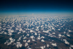 Earth surface viewed from airplane Royalty Free Stock Photography