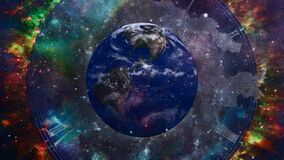 Earth in surreal space