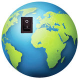 Earth switch concept Stock Photo