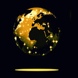 Earth symbol of the new year on our planet Royalty Free Stock Photo