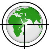 Earth target Royalty Free Stock Photos