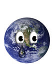 Earth with a teardrop Royalty Free Stock Photography