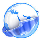 Earth and telecommunication Royalty Free Stock Images