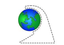 Earth. Terrestrial globe on white background Stock Photos