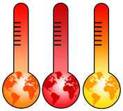 Earth thermometer stock illustration