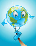 Earth on a thin rope Stock Image
