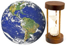 Earth and time. Globe image courtesy of NASA Stock Photos