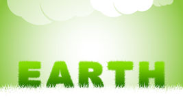 Earth title by green grass. Royalty Free Stock Images