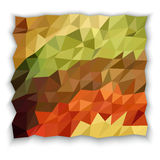 Earth tone color of triangle abstract wallpaper Stock Photo