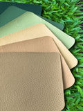 Earth Tone Leatherette color sample. Color of leather to wrap the furniture Stock Images