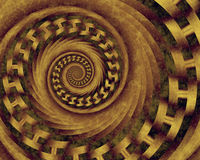 Earth Tones. Abstract fractal spiral in warm neutral earth tones vector illustration