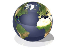 Earth Top View Royalty Free Stock Photos