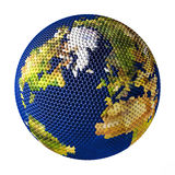 Earth toy consisting of small balls Greenland Royalty Free Stock Photography