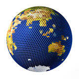 Earth toy consisting of small balls Indian Ocean Stock Images