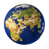 Earth toy consisting of small balls Near East Royalty Free Stock Images