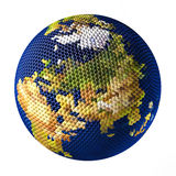 Earth toy consisting of small balls Russia Stock Photos