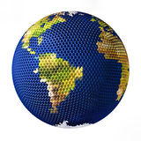 Earth toy consisting of small balls South America Stock Photography