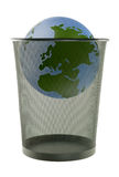 Earth in trash Royalty Free Stock Photo