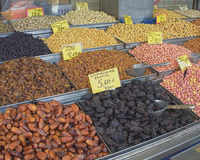 Earth treasures, dried nuts & fruits Stock Photo