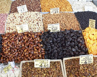 Earth treasures, dried nuts & fruits Stock Photography