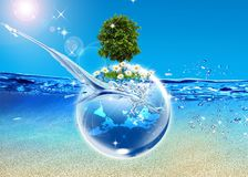 Earth and tree Royalty Free Stock Image