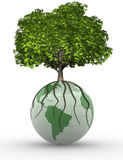 Earth and tree Royalty Free Stock Images