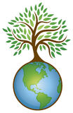 Earth Tree Graphic Logo Stock Images