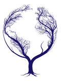 Earth tree stock illustration