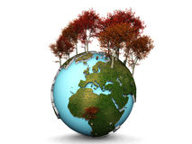 Earth and trees Stock Photos