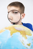 Earth trough magnifier Royalty Free Stock Images