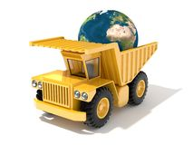 Earth on truck Stock Photo