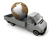 Earth and the truck Royalty Free Stock Photo