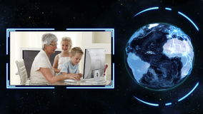 Earth turning on its axis longside videos of families with earth image courtesy of Nasa.org Royalty Free Stock Photos