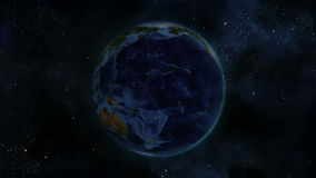 Earth turning on itself with Earth image courtesy of Nasa.org stock video footage