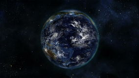 Earth turning on itself with moving clouds with Earth image courtesy of Nasa.org stock footage
