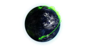 Earth turning on itself  with shadow and grid with image courtesy of Nasa.org. Against a white background stock footage