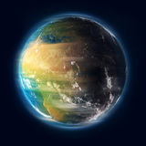 Earth turning. Earth spinning in outer space Royalty Free Stock Photo