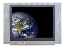 Earth on TV Stock Images
