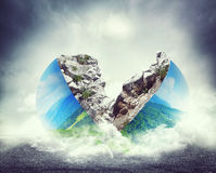 The earth in two parts Stock Photography