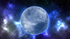 Earth type planet in outer space Royalty Free Stock Image