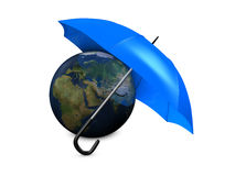 Earth umbrella Royalty Free Stock Images