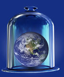 Earth under bell glass Royalty Free Stock Photos