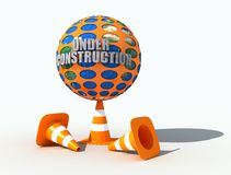 Earth under construction. The earth under construction protected by a perforated plastic net Stock Photos