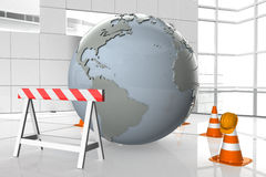 Earth under construction Royalty Free Stock Photos