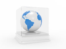 The Earth under glass Royalty Free Stock Images