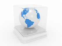 The Earth under glass Royalty Free Stock Image