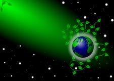 Earth under green spotlight Royalty Free Stock Photos